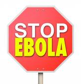 Stop Ebola Sign End Cure Virus Disease Treatment — Zdjęcie stockowe