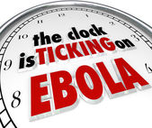Clock Ticking on Ebola Time Stop Deadly Disease Virus — Zdjęcie stockowe