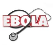 Ebola 3d Word Stethoscope Cure Treat Disease Health Care — Stock Photo