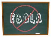 No Ebola Word Chalkboard Stop Cure Virus Disease — Stock Photo
