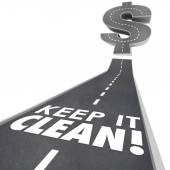 Keep It Clean 3d Words Road Street Cleaning Environment Safe Tra — Photo