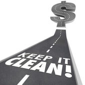 Keep It Clean 3d Words Road Street Cleaning Environment Safe Tra — Stockfoto