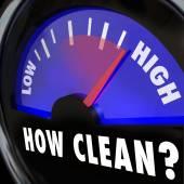 How Clean Words on Gauge Measuring — Stockfoto