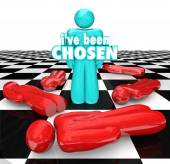 I've Been Chosen 3D Words Last Chess — Stock Photo