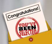 Congratulations You've Been Selected Stamp — Stok fotoğraf