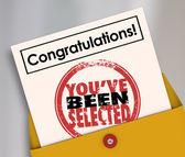 Congratulations You've Been Selected Stamp — Foto de Stock