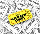 The Chosen One Golden Ticket Lucky Winner — Stock Photo