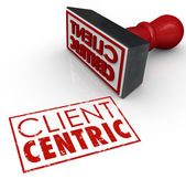 Client Centric Words Stamped Certified Customer — Stock Photo