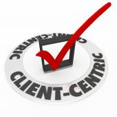 Client Centric Words Check Mark Ring Top Priority — Stock Photo