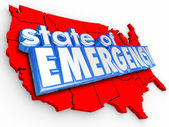 State of Emergency 3d Words United States America National Crisi — Stok fotoğraf