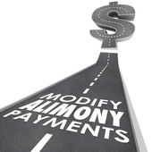 Modify Alimony Payments Road — Stock Photo