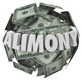Alimony Word 3d Money Ball Financial Obligation Ex Spousal Suppo — Stock Photo