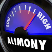 Alimony Gauge Level Spousal Support Financial Payment Amount — Stock Photo