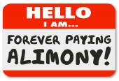 Nametag Hello I Am Forever Paying Alimony — Stock Photo