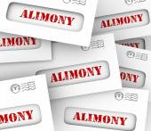 Alimony Envelopes Payments Spousal Support Legal Obligation — Stock Photo