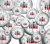 Invest Your Time Many Clocks Competing Priorities Jobs Tasks — Stock Photo