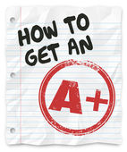 How to Get An A Plus Grade Score School Paper Report — Foto Stock