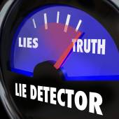 Lie Detector Truth Honesty Vs Dishonesty Lying Polygraph Test — Stock Photo
