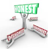 Honest Person Wins Vs Dishonest — Foto de Stock