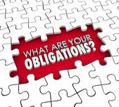 What Are Your Obligations — Stock Photo