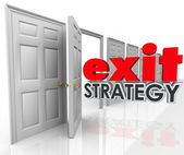 Exit Strategy Open Door Leave Escape Plan — Foto de Stock