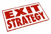 Exit Strategy Words Stamp Escape Way Out Plan — Stock Photo