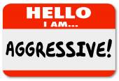 Aggressive Hello I Am Nametag Sticker — Stock Photo