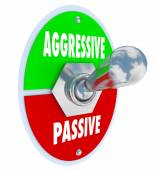 Aggressive Vs Passive Words — Stock Photo