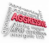 Aggressive Bold Forceful 3d Words Text Background — Stok fotoğraf