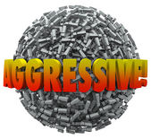 Aggresive 3d Word Exclamation Point Mark Sphere Bold Action — Stock Photo