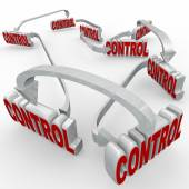 Control Words Connected Arrows Power System Procedure — Stock Photo