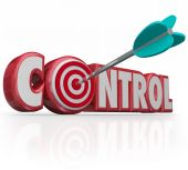 Control Word Arrow Target Bull's Eye Command Position Leadership — Stock Photo