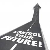 Control Your Future Words Road Rising Up Ambition Independence — Stock Photo