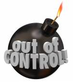 Out of Control Bomb Failure Trouble Problem Bad Mismanagement — Foto Stock