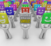 Make Them Smile Words People Happy Good Moods — Stock Photo