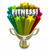 Fitness Award Trophy Winner Top Score Evaluation Prize — Stock Photo