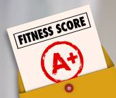 Fitness Score A Plus Top Grade Rating Review Evaluation Result — Stock Photo