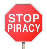 Stop Piracy Illegal File Sharing Internet Torrent Websites — Stock Photo