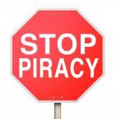 Stop Piracy Illegal File Sharing Internet Torrent Websites — Stok fotoğraf