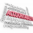 Accountability 3d word background — Stock Photo #52852965