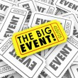 Big Event Golden Yellow Ticket Special Admission Access — Stock Photo #52853595