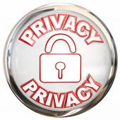 Privacy Round Icon Personal Information Lock Safety — Foto Stock