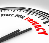 Time for Privacy Clock Protect Personal Sensitive Information Da — Stock Photo