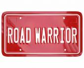 Road Warrior Words License Plate Business Traveler Salesperson — Stock Photo
