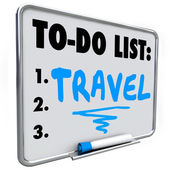 Travel To Do List Dream Vacation Wish Priorities Word — Stock Photo
