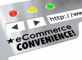Ecommerce Convenience Website Online Store Marketplace — Stock Photo