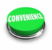 Convenience Word Green Round Buton Fast Easy Service — Stock Photo