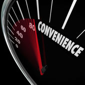 Convenience word on speedometer — Stock Photo