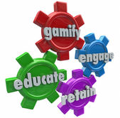 Gamify Engage Educate Retain Customers Students with Games — Stock Photo