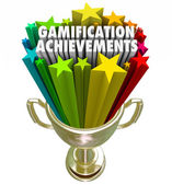 Gamification Achievement Trophy Game Competition Reward — Stock Photo